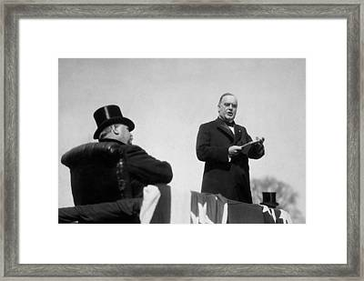 William Mckinley Making His Inaugural Address Framed Print by War Is Hell Store