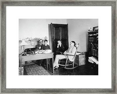 William Osler At Johns Hopkins Framed Print by National Library Of Medicine