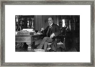 William Osler At Oxford University Framed Print by National Library Of Medicine