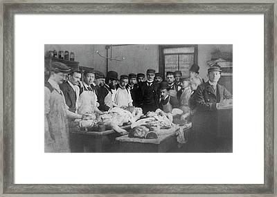 William Osler Teaching Medicine Framed Print by National Library Of Medicine