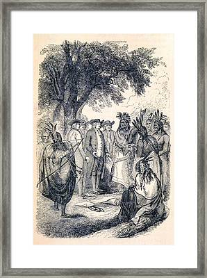 William Penns Treaty With The Indians Framed Print by British Library
