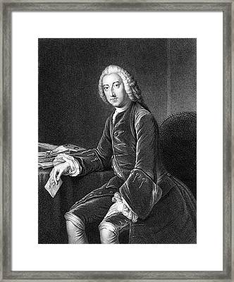 William Pitt - The Elder  1st Earl Framed Print by Mary Evans Picture Library