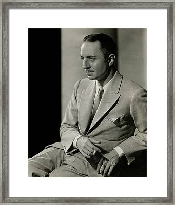 William Powell Wearing A Suit Framed Print by Barnaba