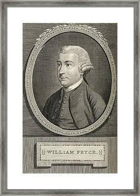 William Pryce Framed Print