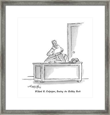 William R. Culpepper Framed Print by Henry Martin
