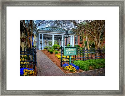 William Rand Tavern At Smithfield Inn Framed Print by Williams-Cairns Photography LLC