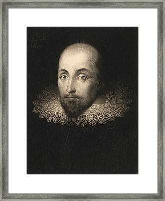 William Shakespeare  Framed Print