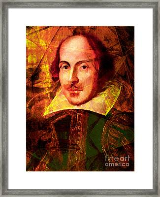 William Shakespeare 20140122 Framed Print by Wingsdomain Art and Photography