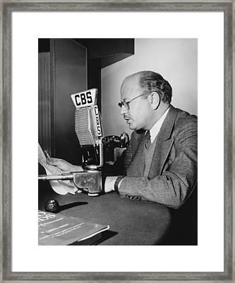 William Shirer At Cbs Framed Print