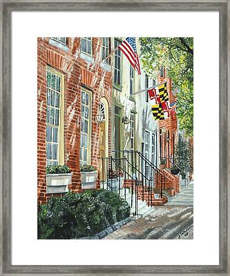 William Street Summer Framed Print by John Schuller