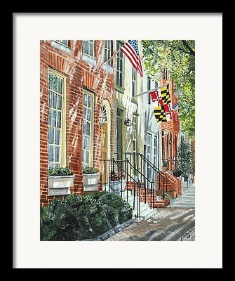 Fed Hill Framed Prints