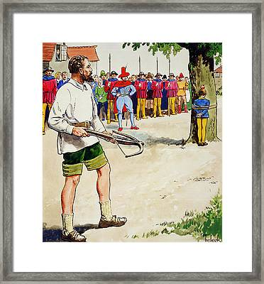 William Tell, From Peeps Into The Past Framed Print by Trelleek