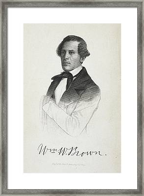 William W. Brown Framed Print