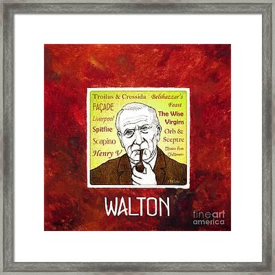 William Walton Framed Print by Paul Helm