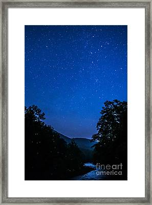 Williams River And Stars Framed Print by Thomas R Fletcher