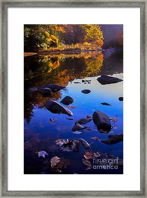 Williams River Autumn Reverie Framed Print by Thomas R Fletcher