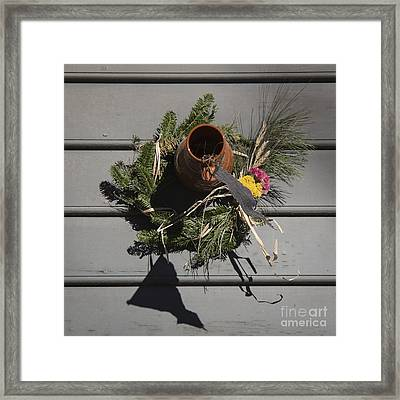 Williamsburg Bird Bottle 2 Framed Print
