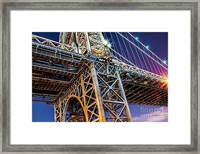 Williamsburg Bridge 1 Framed Print by Az Jackson