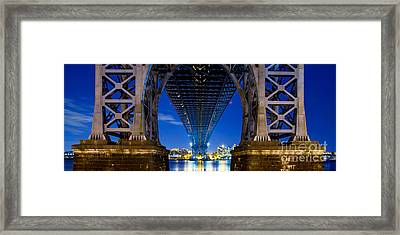 Williamsburg Bridge 4 Framed Print by Az Jackson