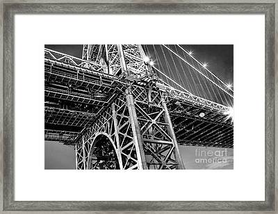 Williamsburg Bridge 5 Framed Print by Az Jackson