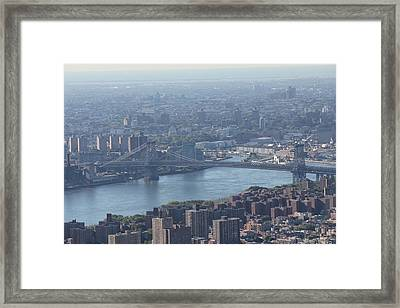 Framed Print featuring the photograph Williamsburg Bridge by David Grant