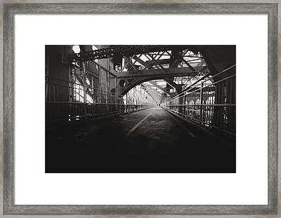 Williamsburg Bridge - New York City Framed Print by Vivienne Gucwa