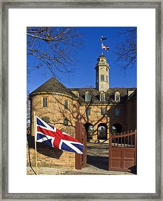 Williamsburg Capitol Framed Print by Sally Weigand