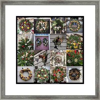 Williamsburg Christmas Collage Squared 2 Framed Print by Teresa Mucha