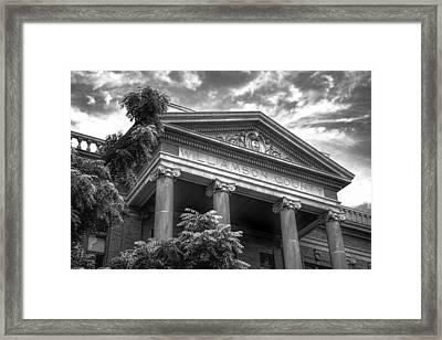 Williamson County Courthouse Bw Framed Print by Joan Carroll