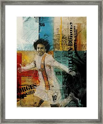 Willian Borges Di Silva - B Framed Print by Corporate Art Task Force