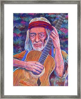 Willie And Trigger Framed Print by Dan Terry