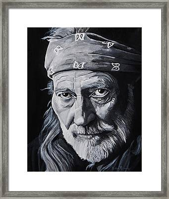 Willie  Framed Print by Brian Broadway
