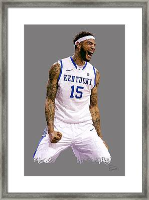 Willie Cauley-stein Framed Print by Charley Pallos