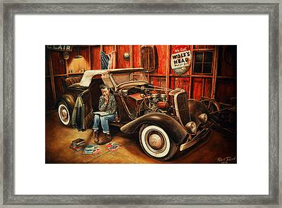 Willie Gillis Builds A Custom Framed Print by Ruben Duran