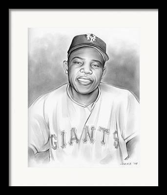 Willie Mays Framed Prints