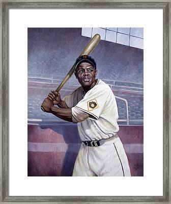 Willie Mays Framed Print by Gregory Perillo