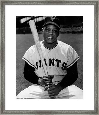 Willie Mays Framed Print by Gianfranco Weiss