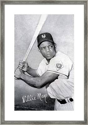 Willie Mays  Poster Framed Print by Gianfranco Weiss