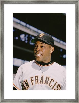 Willie Mays Smiles Framed Print by Retro Images Archive