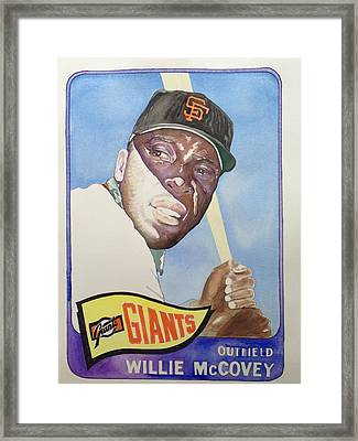 Willie Mccovey Framed Print by Robert  Myers
