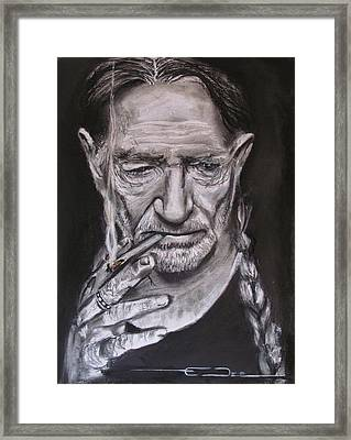 Willie Nelson - Doobie Brother Framed Print by Eric Dee