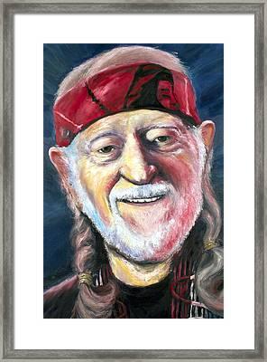 Willie Nelson On The Road Again Framed Print