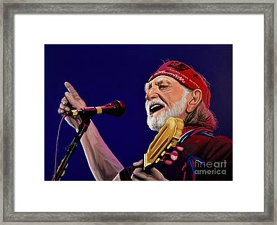 Willie Nelson Framed Print by Paul Meijering
