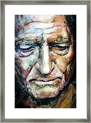 Willie Nelson  Portrait Framed Print