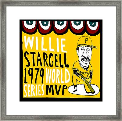 Willie Stargell Pittsburgh Pirates Framed Print by Jay Perkins