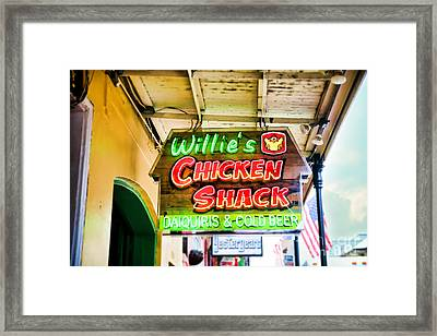 Willie's Chicken Shack Framed Print by Sylvia Cook