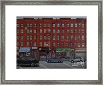 Willis Avenue Tenements Framed Print by Karen Olson