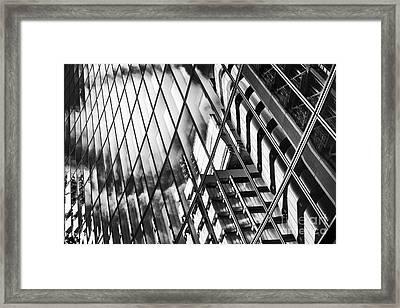 Willis Building And Lloyds Reflections Framed Print by Tim Gainey