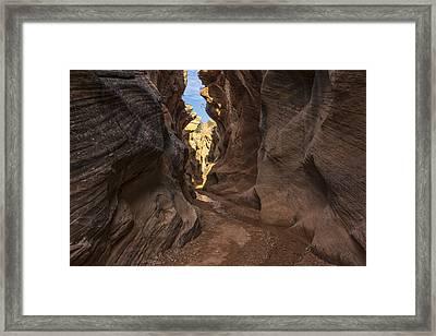 Willis Creek Slot Canyon 3 - Grand Staircase Escalante National Monument Utah Framed Print by Brian Harig