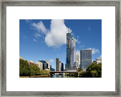 Willis Tower And 311 South Wacker Drive Chicago Framed Print by Christine Till